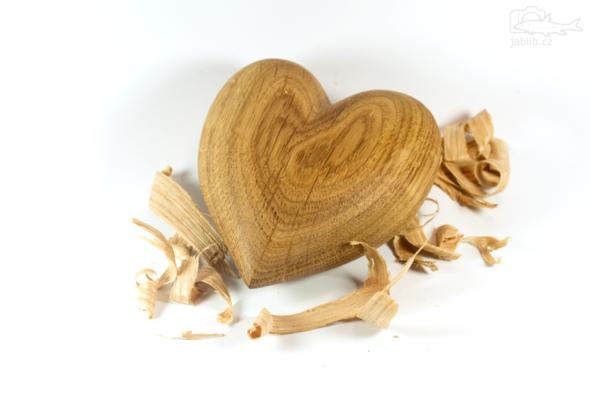 Výsledek snažení - srdce z dubu letního (Quercus robur)
